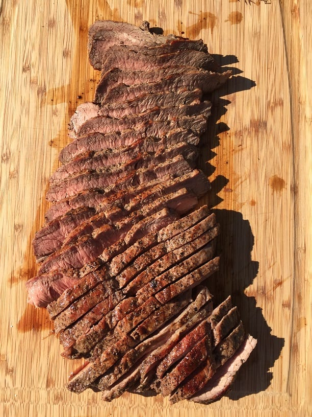Sliced Flat Iron Steak