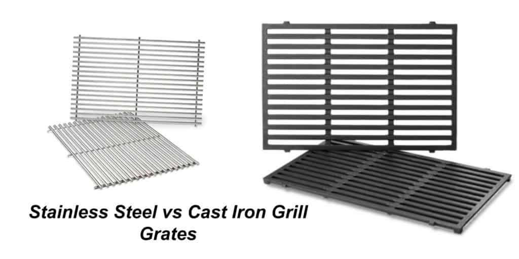 Stainless Steel Vs Cast Iron Grill Grates Weber Grill Replacement Parts